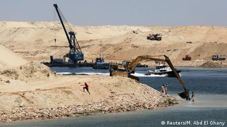 Ägypten Baustelle Erweiterung Suezkanal