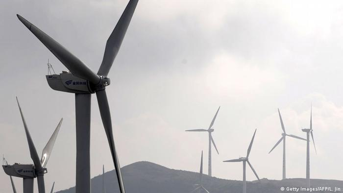 Wind turbines (Getty Images/AFP/L. Jin)