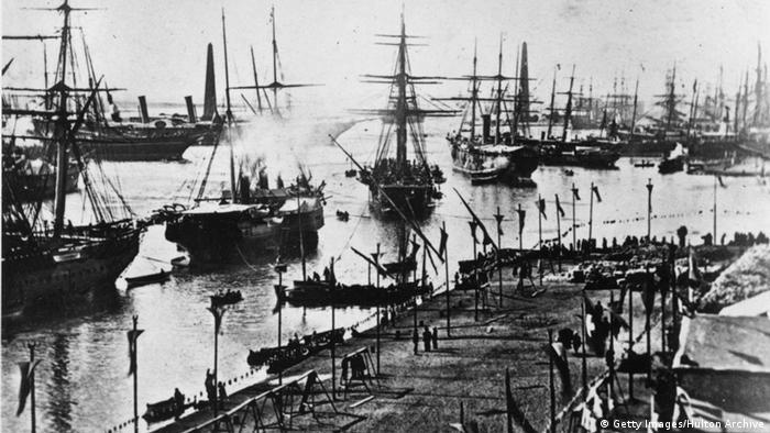 Ägypten Eröffnung Suez Kanal 1869 (Getty Images/Hulton Archive)