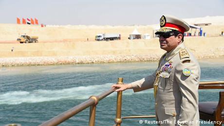 Ägypten Präsident Alsisi bei der Einweihung des neuen Suez Kanals