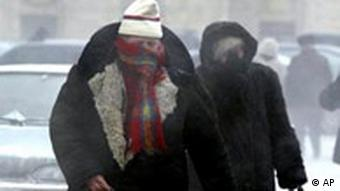 Kältewelle in Rußland, Passanten in Moskau