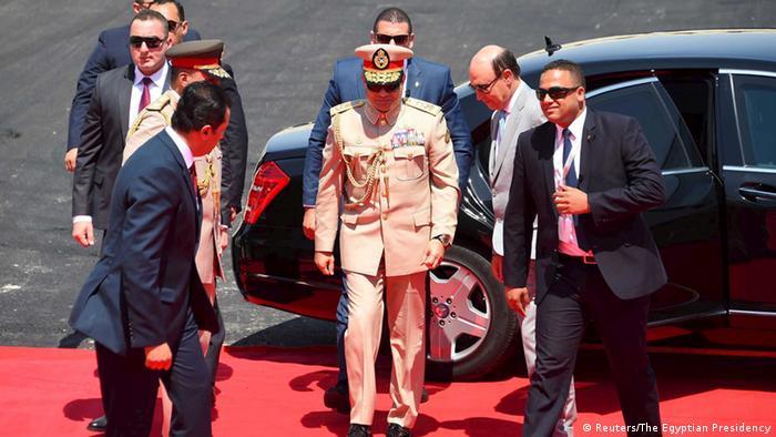 Suez Kanal Eröffnung Präsident Abdel Fattah al-Sisi Ägypten (Reuters/The Egyptian Presidency)