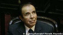 Carlos Menem Ex-Präsident Argentinien