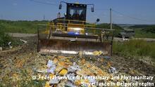 Russland Vernichtung westliche Lebensmittel Sanktionen Importverbot