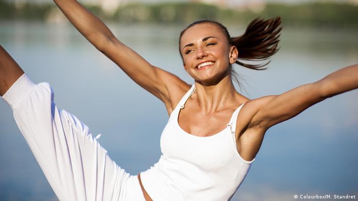 Junge Frau Sport Gymnastik Fitness