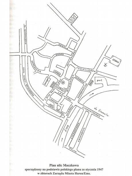 Haren Maczkow Der alte Stadplan von Maczkow