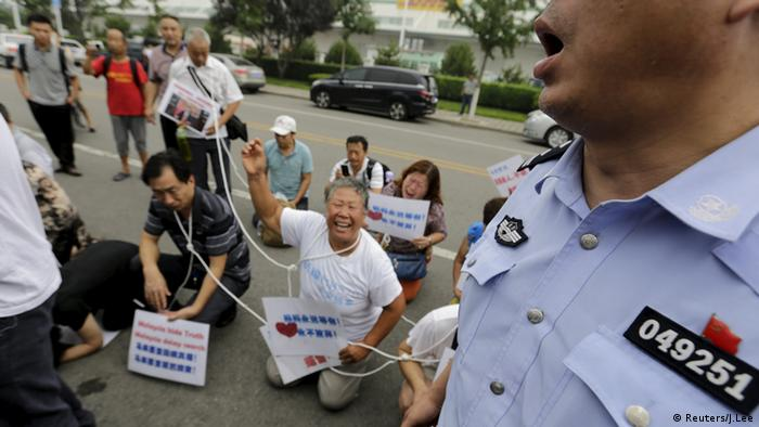 MH370 Proteste Familienmitglieder Peking China