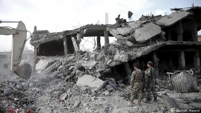 A truck bomb tore through Kabul city center