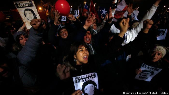 Protestas en Chile por los desaparecidos durante la dictadura. (2015).
