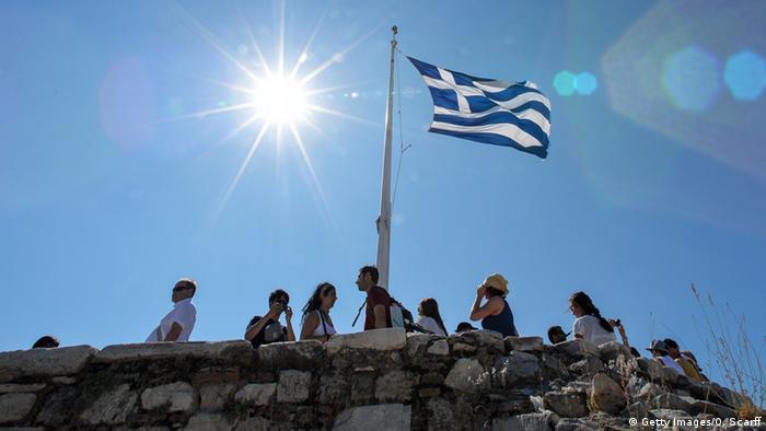 Symbolbild Griechenland einigt sich mit Gläubiger-Unterhändlern auf Reformen Griechenland Akropolis Sonnenaufgang (Getty Images/O. Scarff)
