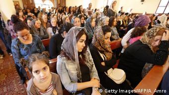 Syrische Christen fliehen vor den Unruhen in den Libanon