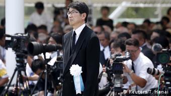 El alcalde de Nagasaki, Tomihisa Taue, pidió que Japón nunca cambie sus principios pacifistas.