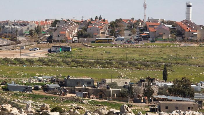 Overview of the Israeli settlement of Adam located near the West Bank city of Ramallah.