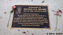 USA Gedenktafel an Michael Brown in Ferguson OVERLAY