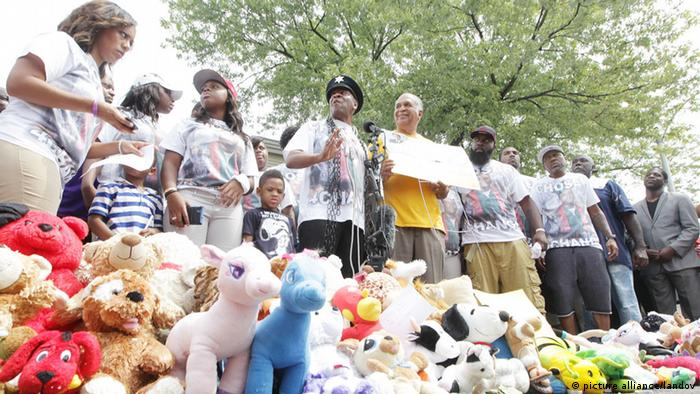Gedenken an Michael Brown in Ferguson