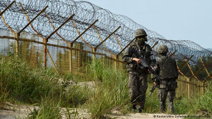Südkorea Explosion in der entmilitarisierten Zone (DMZ) (Reuters/the Defense Ministry/Yonhap)