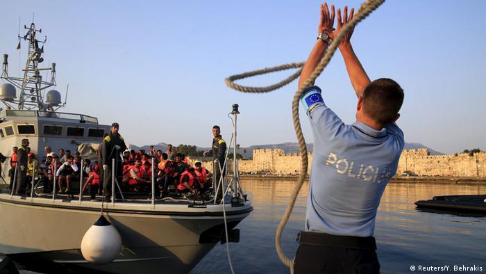 Griechenland Ankunft syrischer Flüchtlinge auf Kos