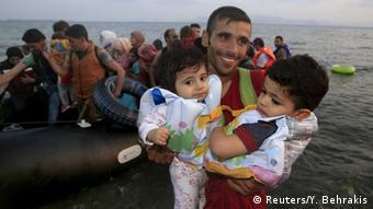 Flüchtlinge Griechenland Anlandung Syrien Kobane Erleichterung Kos Kinder