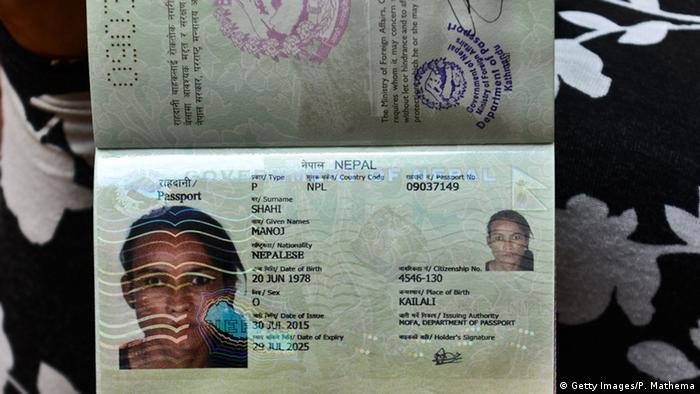 Nepal Transgender Ausweis Reisepass Monica Shahi