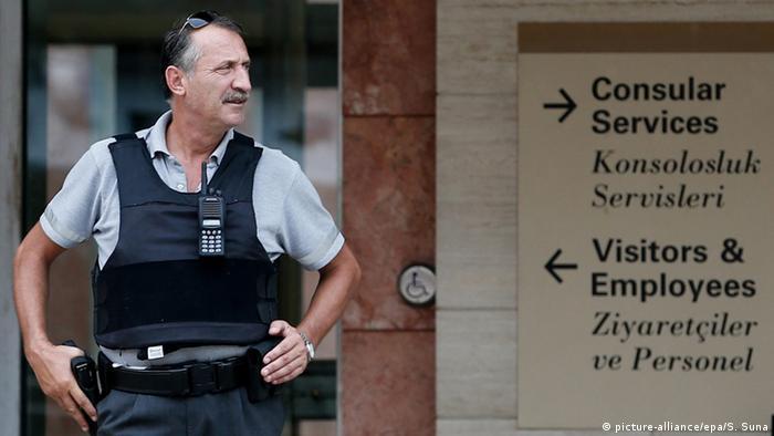 Türkei Sicherheitsmaßnahmen nach dem Angriff auf den US Konsulat in Istanbul