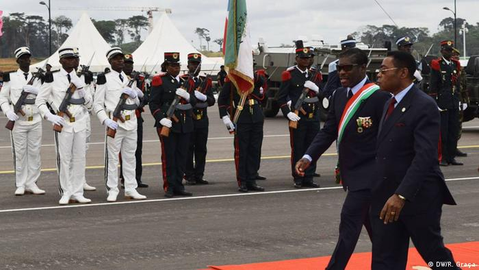 Äquatorial-Guinea Militärparade Teodoro Obiang Nguema Mangue