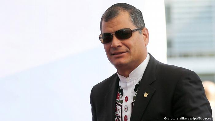 Belgien Rafael Correa in Brüssel