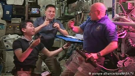 Weltraum Salaternte auf der ISS