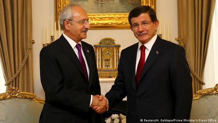 Türkei Kilicdaroglu und Davutoglu Koalitionsgespräche in Ankara