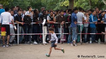 Deutschland Asylsuchende in Berlin