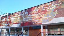 Mosaik Fassade Schule Kiew Ukraine