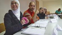 students in a German language class