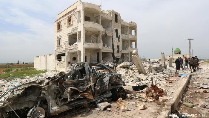 Руины сирийского города Алеппо