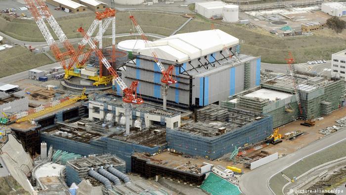 Japan Bau des Atomkraftwerks Oma