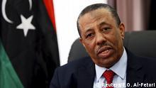 Libyen Ministerpräsident Abdullah al-Thinni