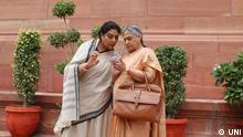 Indien Rajya Sabha Mitglieder Jaya Bachchan und Renuka Chowdary