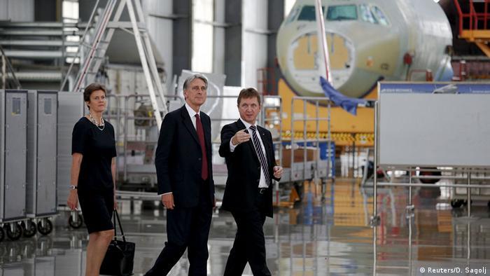 China Philip Hammond besucht Airbuswerk in Tianjin