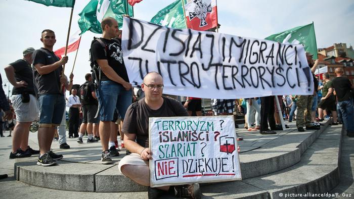 Polen Protest gegen Aufnahme von Flüchtlingen