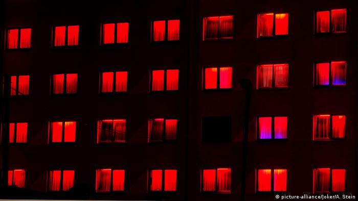 Красные окна кельнского секс-заведения Pascha