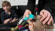 Kind Haare schneiden rasieren Läuse suchen