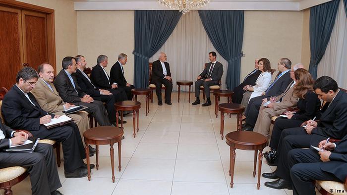 دیدار هیات ایرانی به سرپرستی محمد جواد ظریف با بشار اسد (۱۲ اوت ۲۰۱۵)