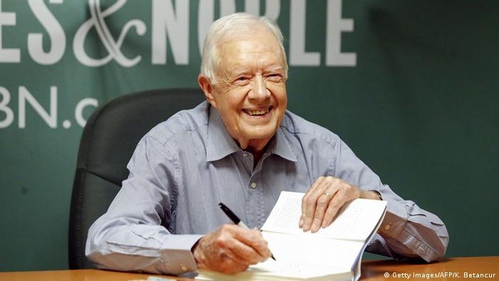 USA Ex-Präsident Jimmy Carter (Getty Images/AFP/K. Betancur)
