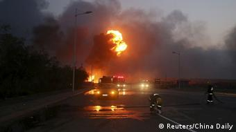 China Explosion in Hafenstadt Tianjin