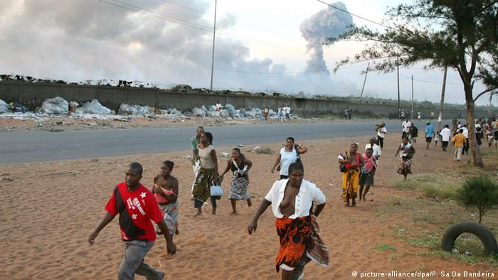 Mosambik Explosion Munitionsdepot in Maputo