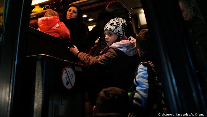 Kosovo Albaner auf dem Weg nach Ungarn