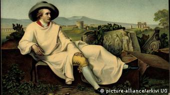 Gemälde zeigt Goethe in Italien
