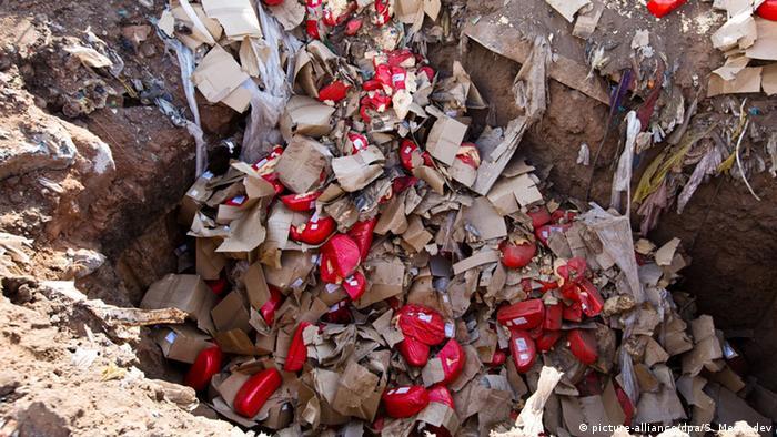 Russland Vernichtung westliche Lebensmittel Sanktionen Importverbot (picture-alliance/dpa/S. Medvedev)