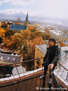 Артем Монахов: селфи на крыше