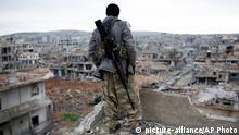 Syrien Bürgerkrieg Kurden Kämpfer bei Kobane