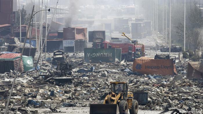 Tianjin China Explosion Hafen