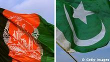 Kombobild Flaggen Afghanistan Pakistan